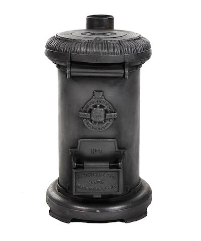 A Charles Portway cast iron 'Tortoise' stove No. 1Late 19th/early 20th Centuty