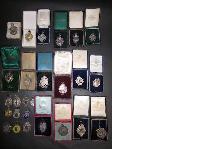 A large collection of early 20th Century medals