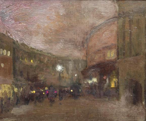 Sir Gerald Festus Kelly (British, 1879-1972) Regents Street and Cafe Royal
