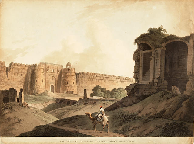 DANIELL (THOMAS and WILLIAM) The Western Entrance of Shere Shah's Fort, Delhi, [1796]