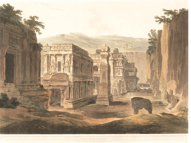 DANIELL (THOMAS and WILLIAM) S.W. View of Kailasa, 1803