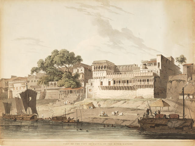 DANIELL (THOMAS and WILLIAM) Part of the City of Patna, on the River Ganges, 1795