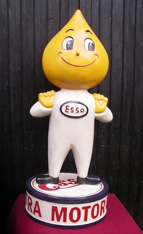 A hand-painted Mr Drip standing forecourt figure,