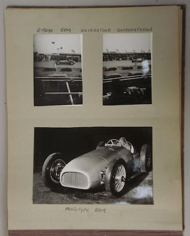 An album of post-War motor racing photographs,