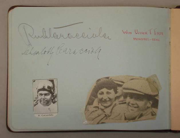 An autograph book,