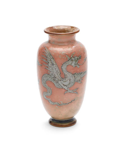 Martin Brothers a Vase with Fire-Breathing Dragons, 1900