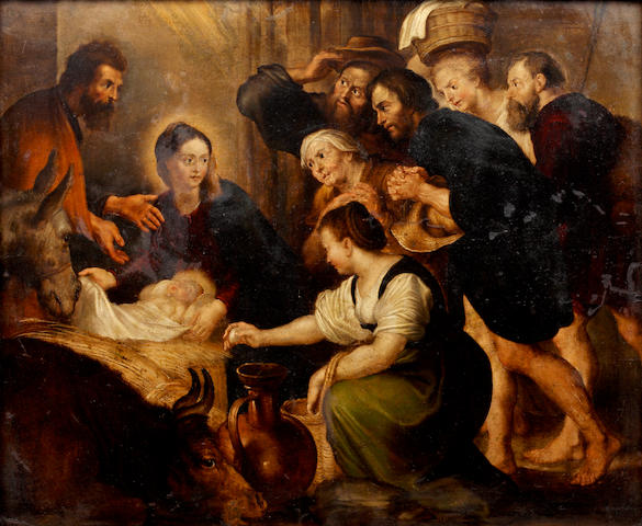 After Sir Peter Paul Rubens The Adoration of the Shepherds