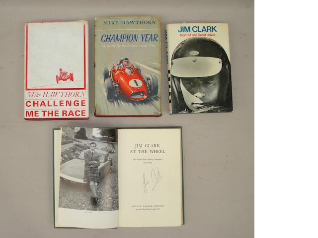 Jim Clark: Jim Clark At The Wheel; signed by Jim Clark