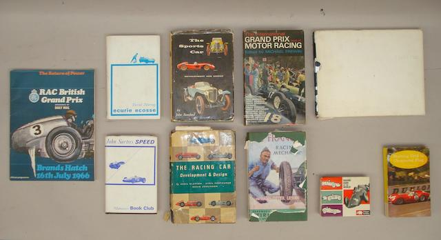 A collection of motoring books,