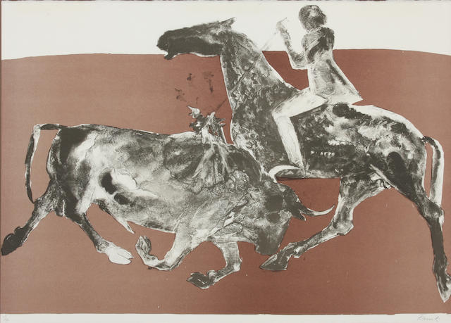 Dame Elisabeth Frink R.A. (British, 1930-1993) Rejoneadora I S.56.5 x 77cm.