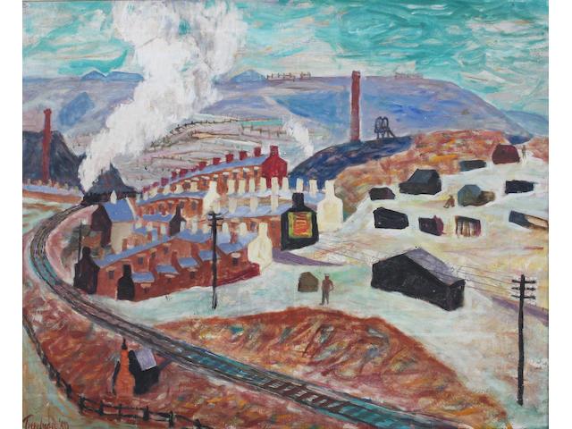 Julian Trevelyan R.A. (British, 1910-1988) 'Dowlais' 61 x 73cm.