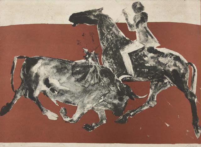 Dame Elisabeth Frink R.A. (British, 1930-1993) Rejoneadora I 56.5 x 77cm. Unframed