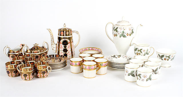A Royal Crown Derby Imari coffee service