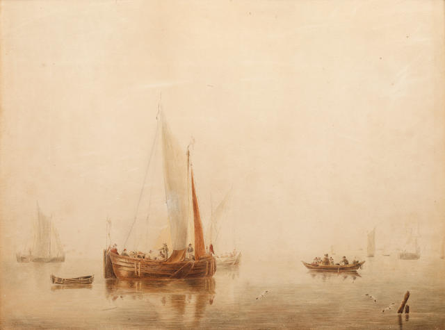 William Anderson (British, 1757-1837) Fishing vessels at sea