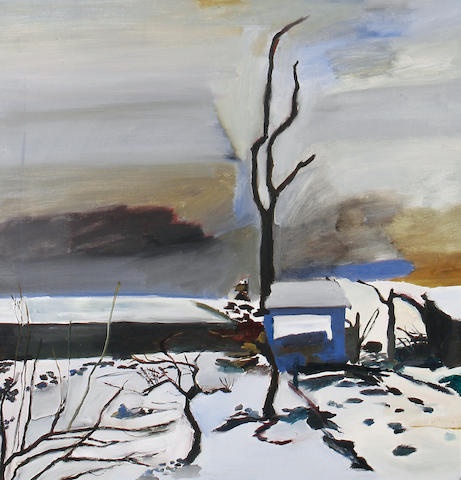 Ben Levene RA (British, 1938-2010) Landscape in winter