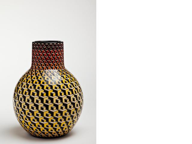 Buchan Dennis for Dennis Chinaworks 'Metropolis' a Large and Impressive Bottle Vase, 201