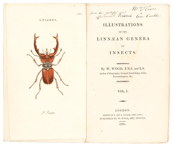 WOOD (WILLIAM) Illustrations of the Linnaean Genera of Insects, 2 vol., 1821; and 12 others (14)