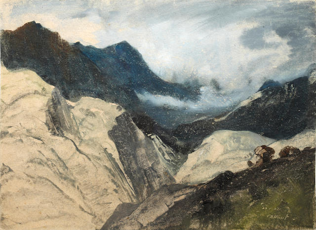Cecil Arthur Hunt (British, 1873-1965) Storm over Snowdon