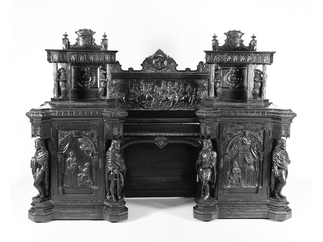 Carved oak copy of the Kenilworth Buffet