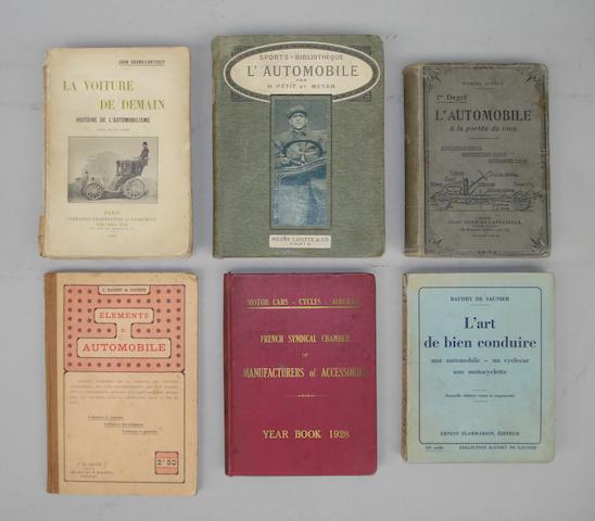 A collection of Edwardian French motoring books,