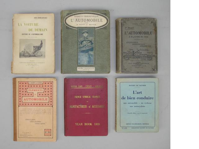 A collection of Edwardian French motoring books