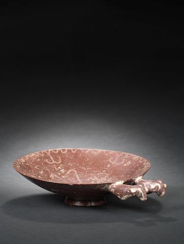 Pre-Achaemenid red stone handled dish