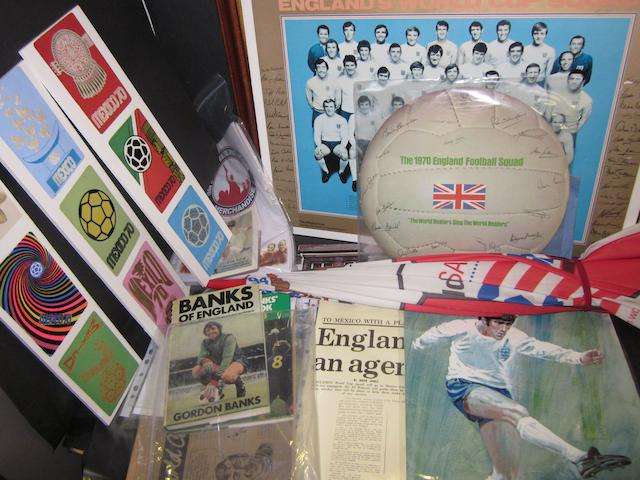 A collection of 1966/1970 England and other World Cup items
