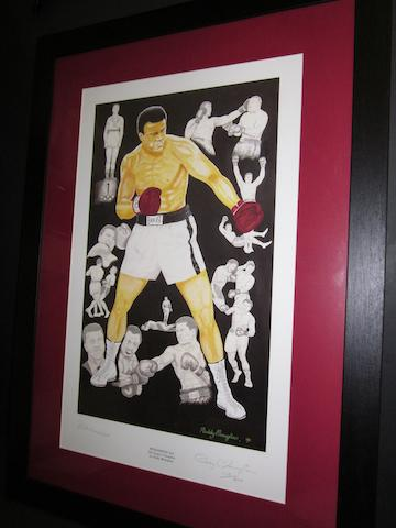 Muhammad Ali hand signed 'Peoples Champion' limited edition print