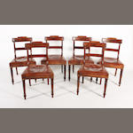 A set of six late George III mahogany  standard chairs