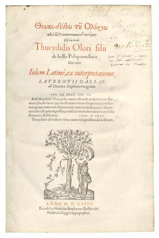 THUCYDIDES De bello Peloponnesiaco, libri octo, 1564