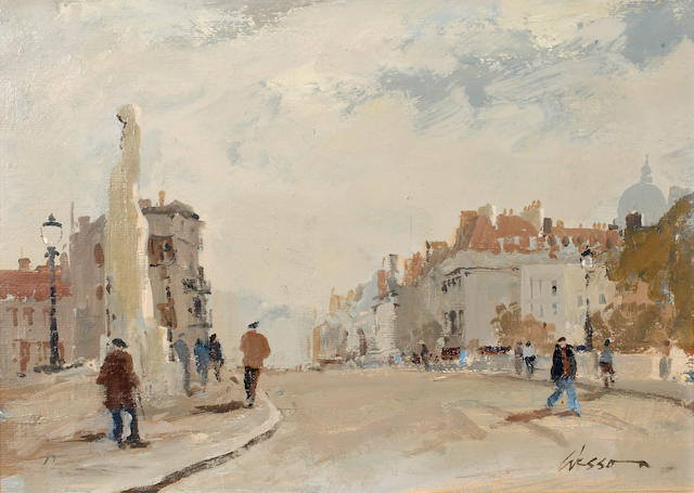 Edward Wesson, R.I., R.B.A., R.S.M.A. (British, 1910-1983) Grey day, Paris