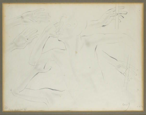 Eric Gill (British, 1882-1940) Study for Ariel 27 x 35.5 cm. (10 3/4 x 14 in.)