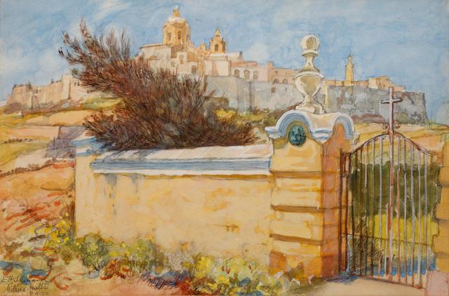 Ernest Howard Shepard (British, 1879-1976) Medina, Malta,