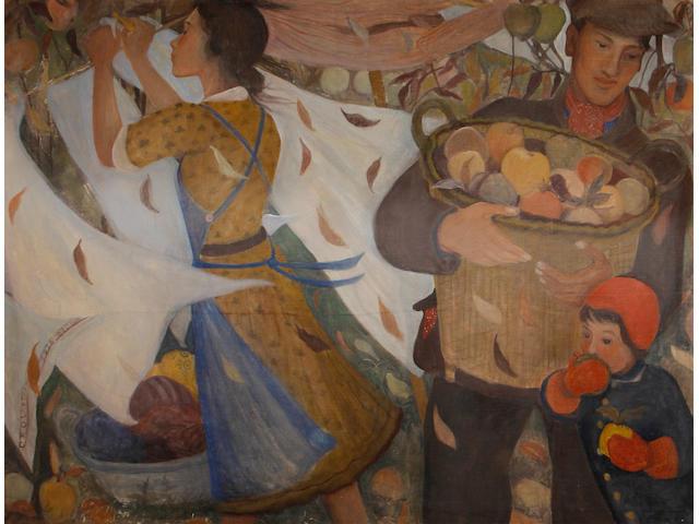 Orovida Camille Pissarro (British, 1893-1968) Autumn 86 x 114.5 cm. (34 x 45 in.)