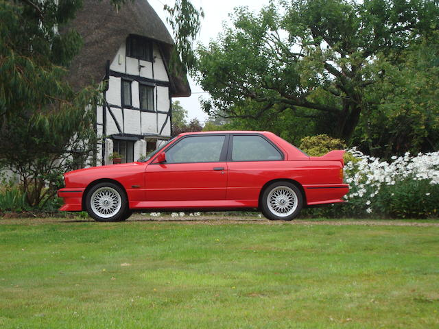 2,448 miles (3,939 kilometres) from new,1988 BMW M3 Evolution II Sports Saloon  Chassis no. WBSAK010402191836 Engine no. 60664368