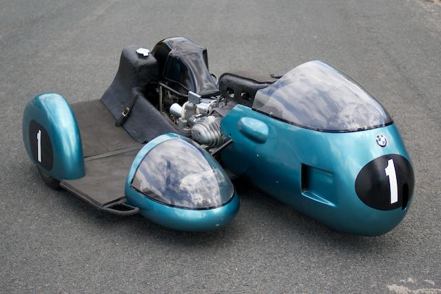 he ex-Georg Auerbacher, Hermann Hahn, Dieter Busch built,,1968 BMW 500cc Rennsport Racing Sidecar Outfit