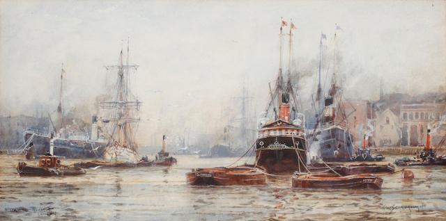 Frederick William Scarborough (British, born circa 1860-1939) Blackwall Reach, London