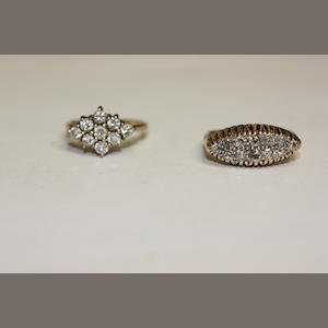 Two diamond set rings (2)