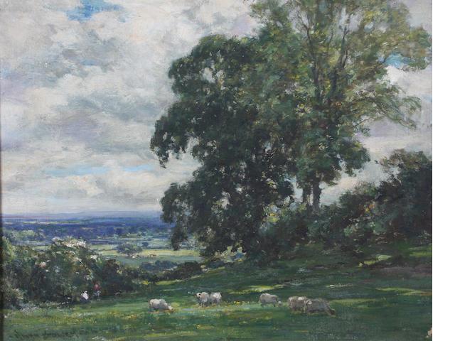 Owen Bowen (British, 1873-1967) Vale of York 50.5 x 61cm.