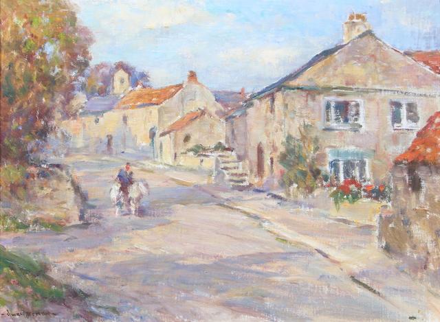 Owen Bowen (British, 1873-1967) Linton, near Wetherby, Yorks 40 x 51cm.