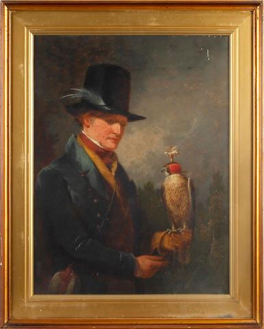 Circle of John Linnell (British, 1792-1882) The Falconer