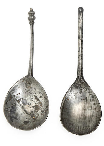 A baluster-knop spoon, circa 1600
