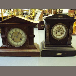 A late 19th century French mantel clock