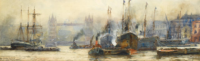 Frederick William Scarborough (British, circa 1860-1939) 'The Tower Bridge London'