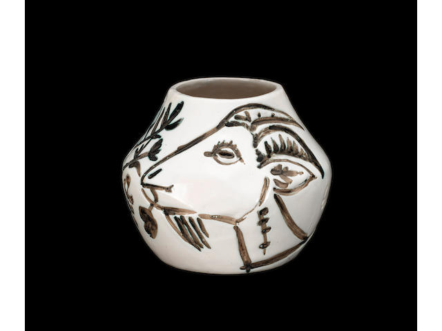 Pablo Picasso (Spanish, 1881-1973) Vase aux chèvres 19cm (7 1/2in) high