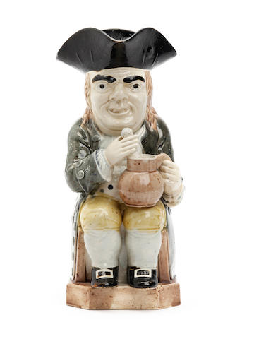 A Wood type Toby jug, circa 1790