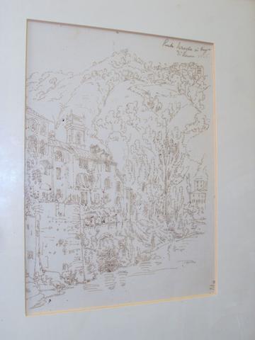 Antonio Senape (Italian, 1788-1850) 'Ponte Seraglio Di Cayn Di Lucca'