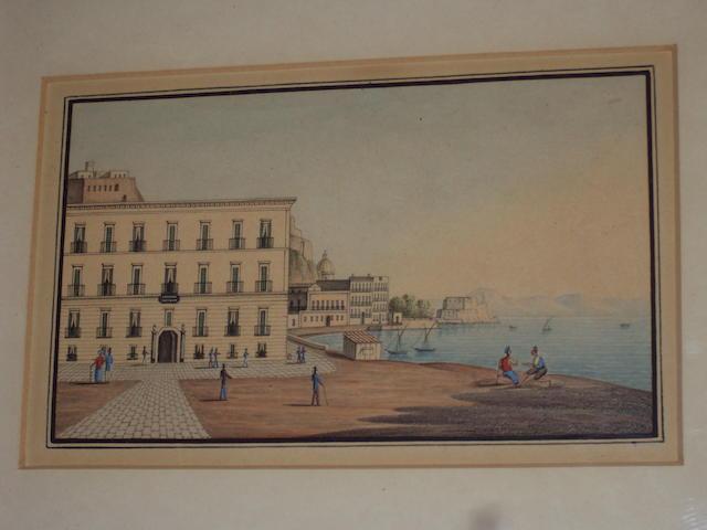 Neapolitan School (19th century) Views of Naples