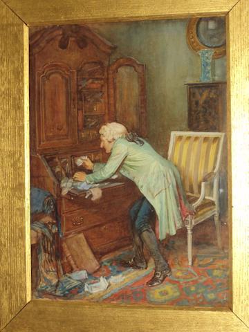 George Fox (British, 1816-1910) 'The Secret Drawer'