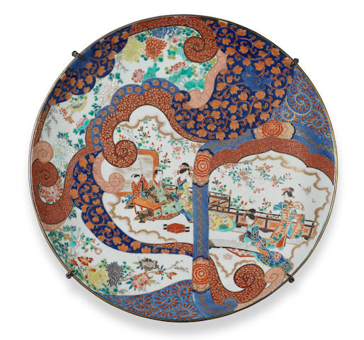 A large Imari charger Late 19th century
